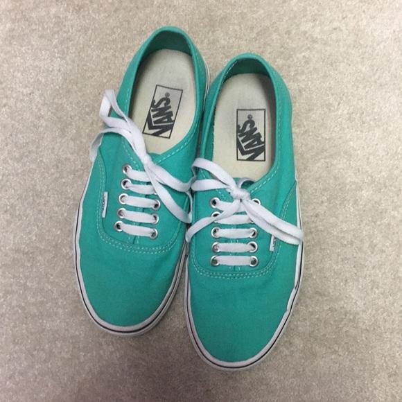 Vans Shoes | Teal Vans Authentic Skate